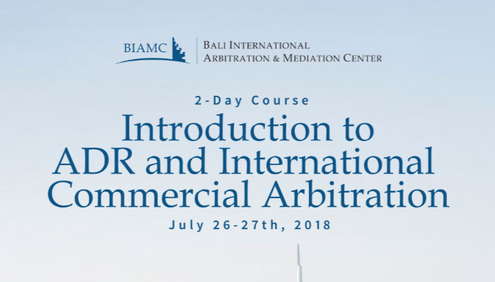 Introductory Course in ADR and International Abitration